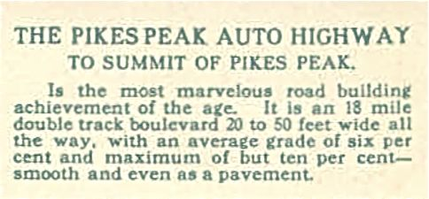 1940 Pikes Peak Auto Racing Photos on The Pikes Peak Auto Highway