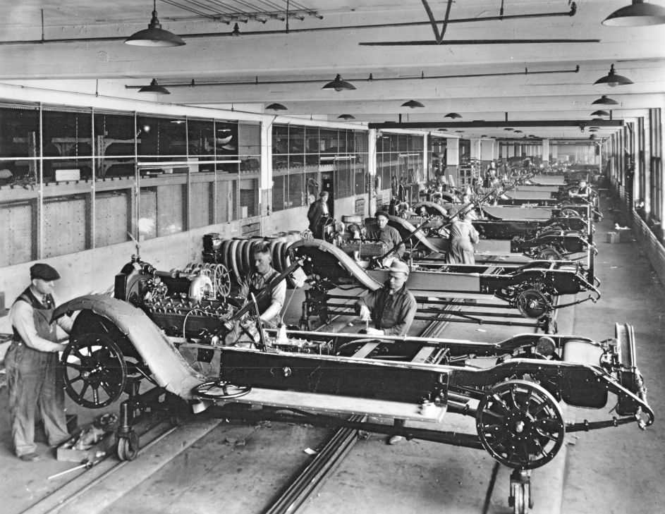 essay on henry ford and the assembly line Free essay on henry ford the assembly line change was what headed the ford motor company to huge sales and.