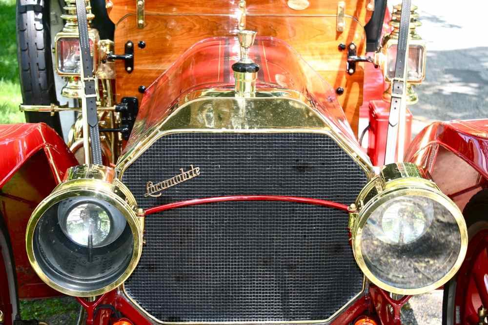 Carbide Car Headlights : Acetylene gas lighting the old motor