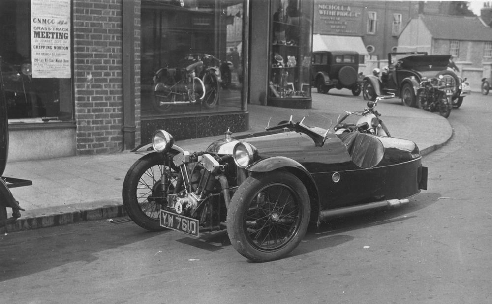 A Morgan and a Motorcycle Shop….Cambridge 1929 | The Old Motor