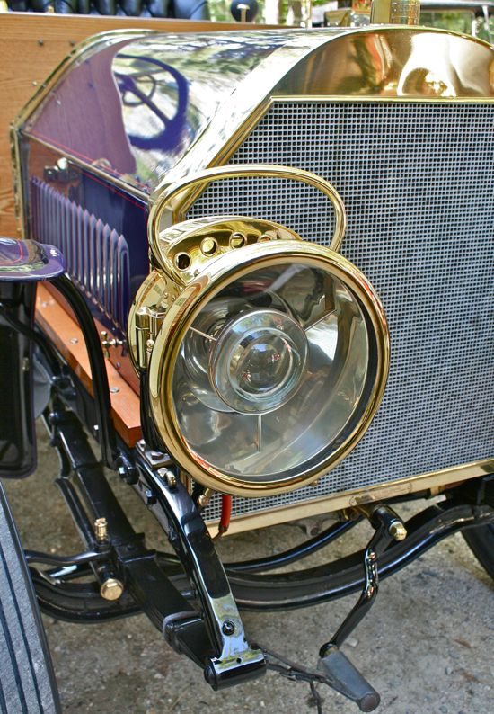Antique Brass Car Headlights : Acetylene gas lamp the old motor
