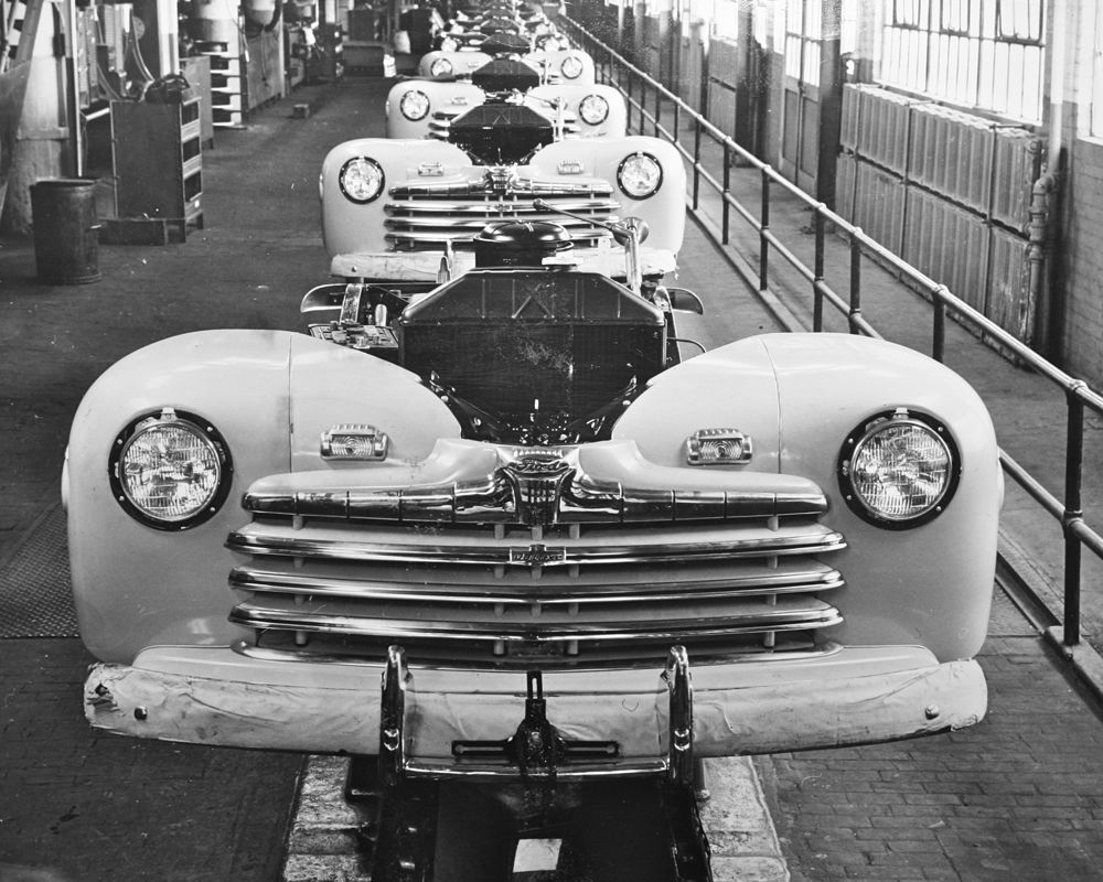 steel strike brings ford production to a halt during 1946 the old