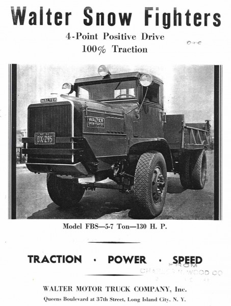 Interesting Snow Plowing Films From The Late 1930s With Walter Snow Fighter Trucks The Old Motor