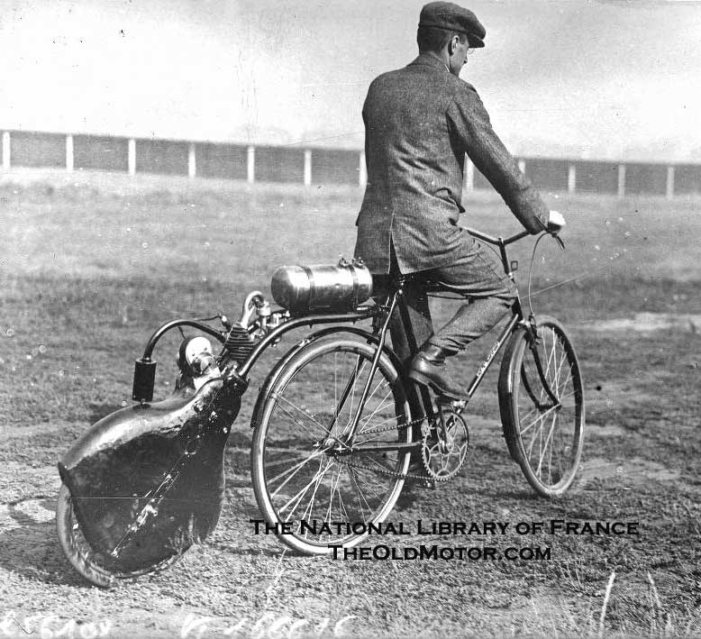 Neat Early Motorized Bicycle Photos
