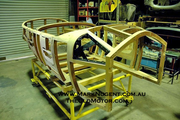 A New Wooden Framework For A Silver Ghost Touring Car Body Is Seen Here.  Most Traditional Style Early Coachwork Starts With A Wooden Frame.