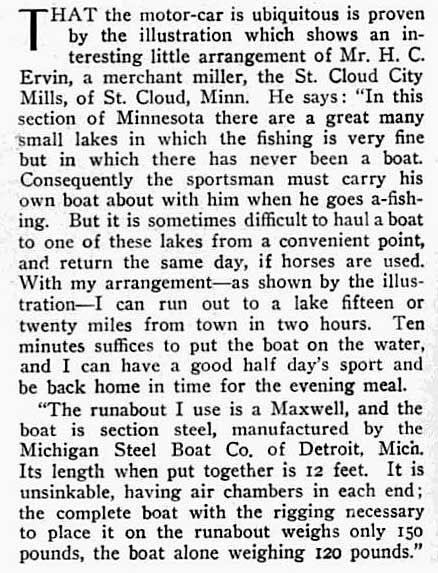 Motor Car Boat Portage 1906 Style With A Maxwell