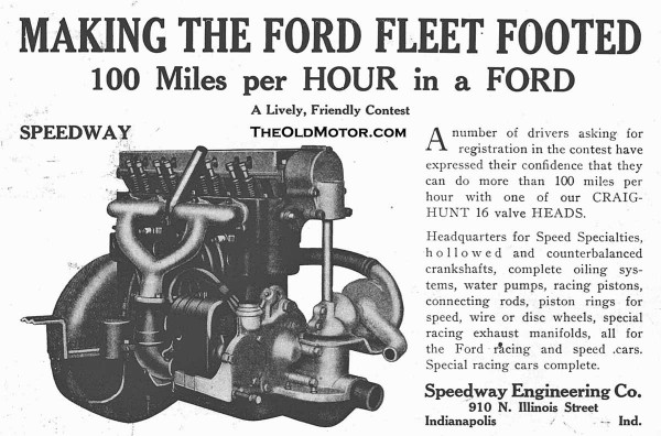 Model T Ford Speed and Racing Equipment Part I – The Early Pioneers ...