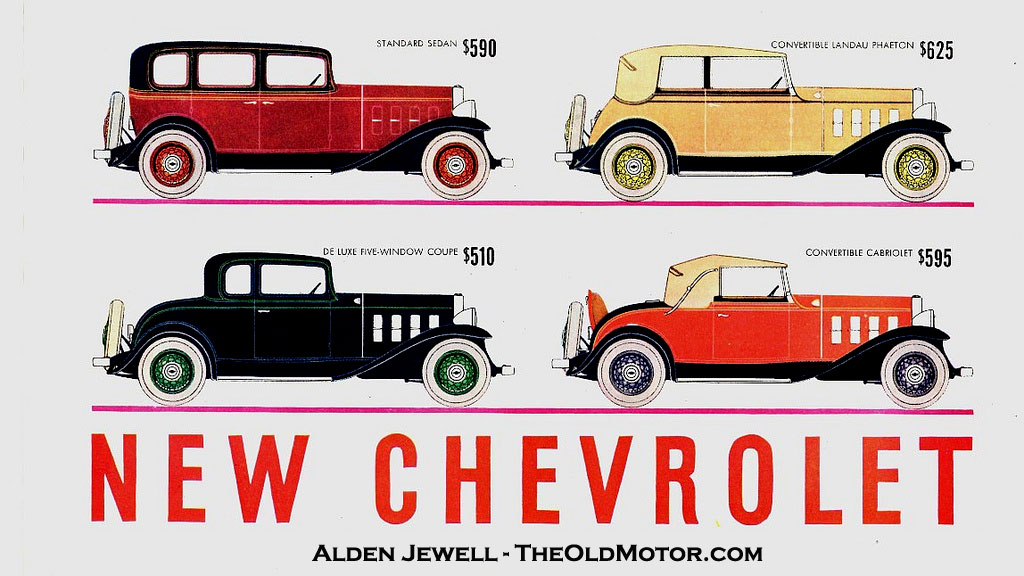 """Chevrolet – """"The Great American Value for 1932"""" 