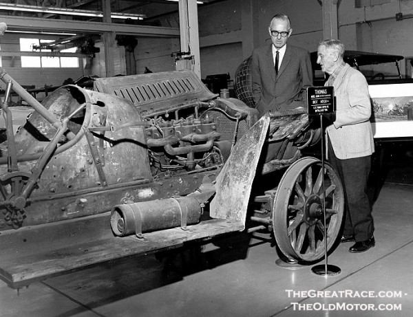 William Harrah And George Schuster With The Thomas Flyer