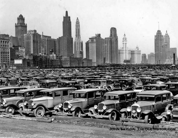 grant park and the chicago skyline the old motor. Black Bedroom Furniture Sets. Home Design Ideas