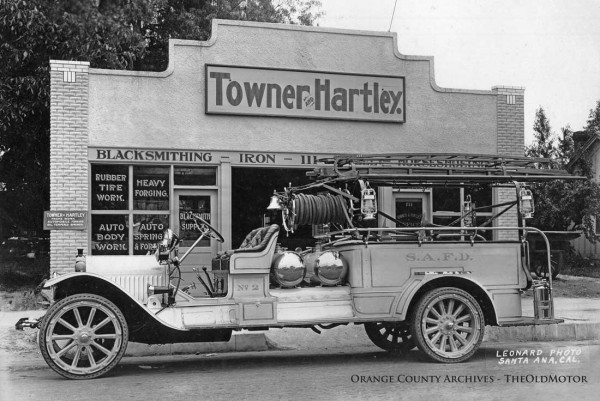 A White Fire Truck At Towner Hartley In Santa Ana California The Old Motor