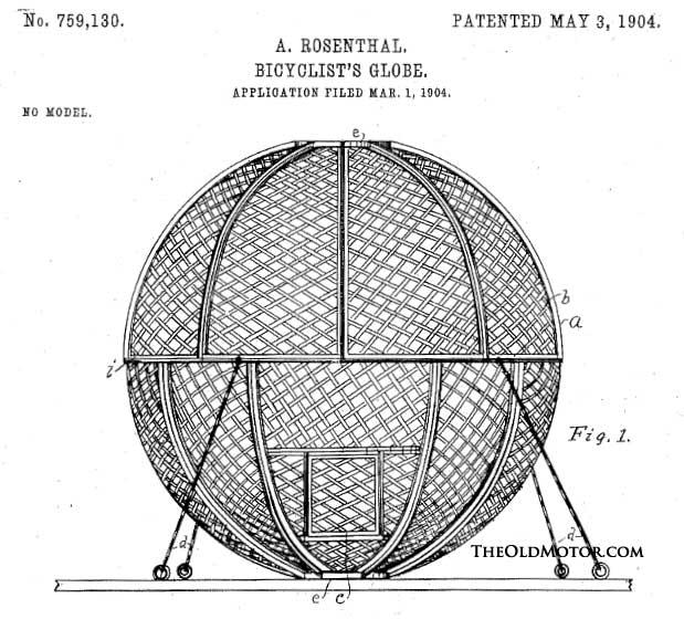 Bicyclist's Globe patent drawing