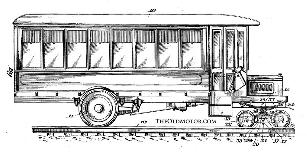 packard truck converted to a rail car