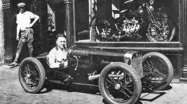 Indian Four powered midget car
