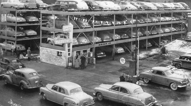 vertical automatic parking garage the old motor. Black Bedroom Furniture Sets. Home Design Ideas