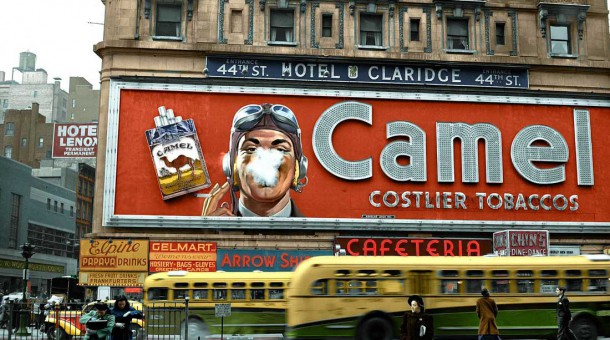 Smoking Camel Cigarette billboard in Times Square