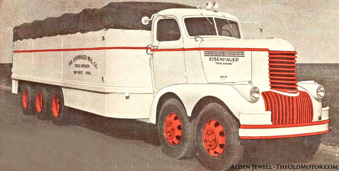 the eisenhauer freighter a unique twin engine truck the old motor