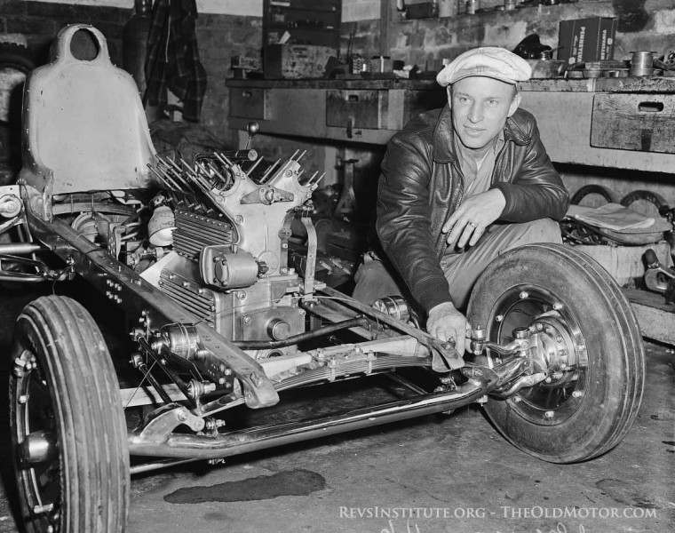 Gilmore Stadium midget racer powered by and Offenhauser engine