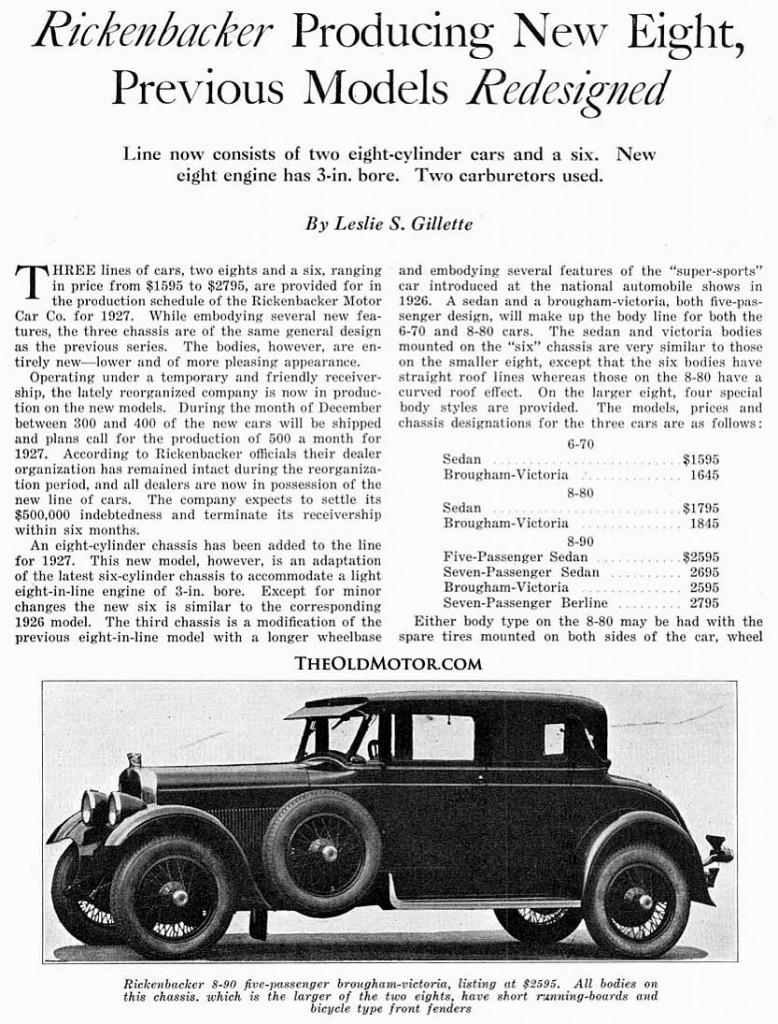 1927 Rickenbacker