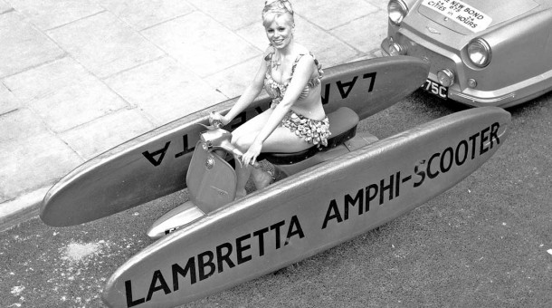 Lambretta Amphi-Scooter and a Bond three-wheeled car