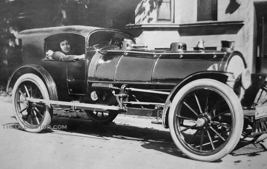 A.F. Sternad's Steam Train Automobile