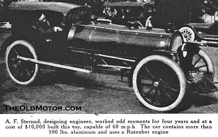 A.F. Sternad's Steam Train Automobile