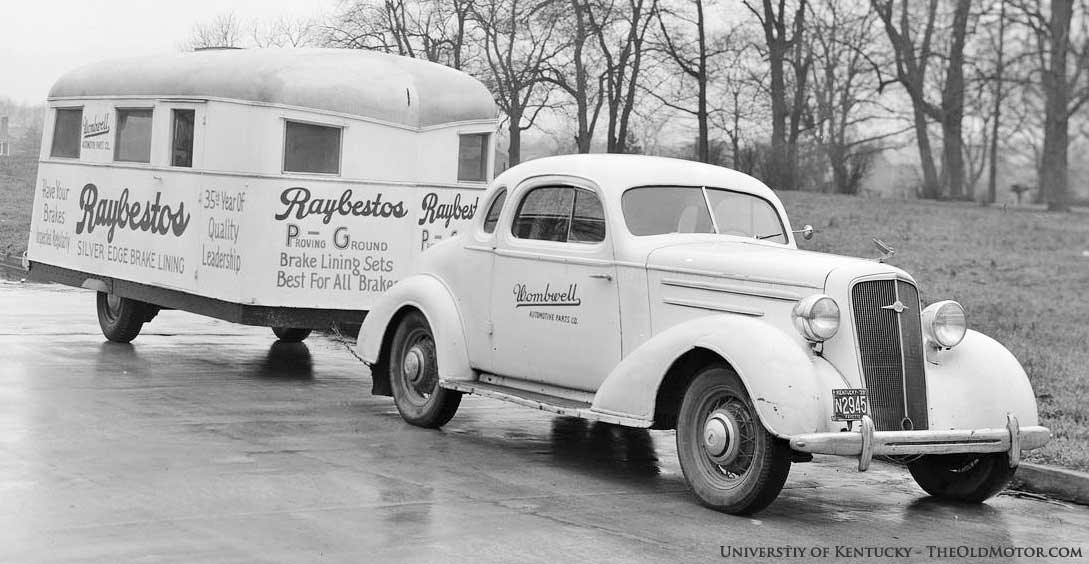 1935 Chevrolet and a 1930s travel trailer