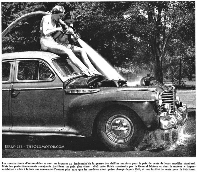 1941 Buick being water tested