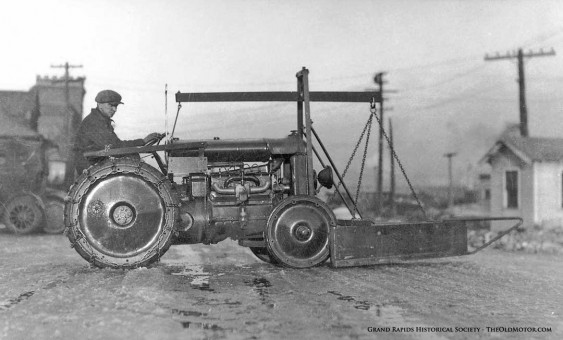 Fordson Tractor with a V Plow