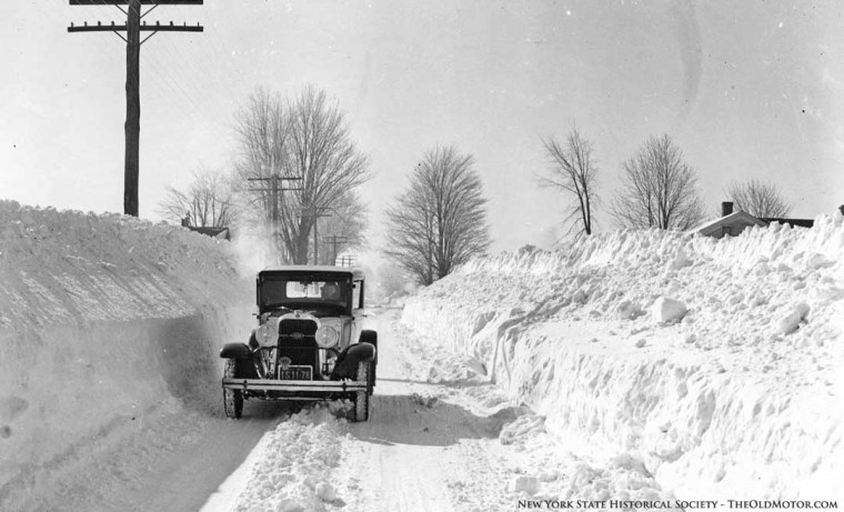 New York Winter Snow Scenes and Vintage Plowing Videos | The Old Motor