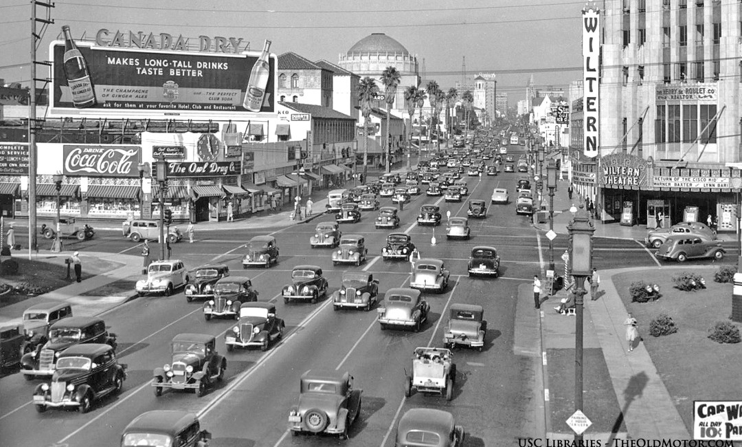 Wilshire Boulevard And Western Avenue Rush Hour Vintage