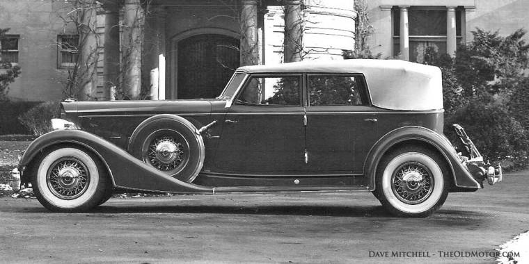 1933 Packard Model 906 Twelve Dietrich Convertible Sedan