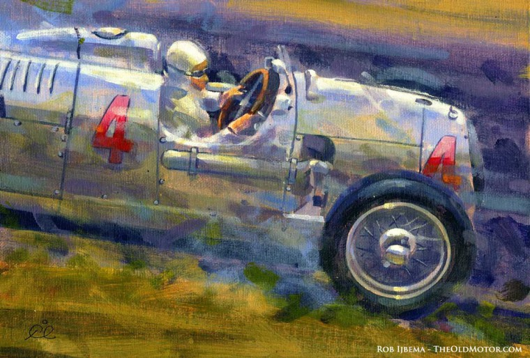 Bernd Rosemeyer - Auto Union - 1936 German GP