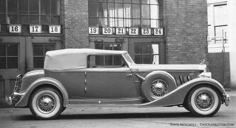 1933 Packard Model 906 Twelve Dietrich Convertible Victoria