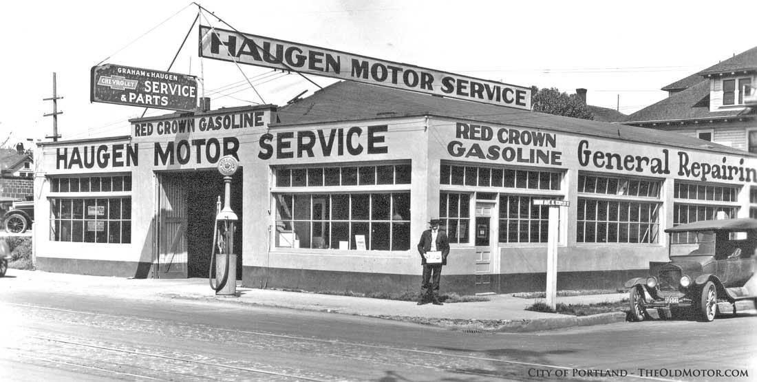 Old Gasoline Station and Garage Photographs | The Old Motor