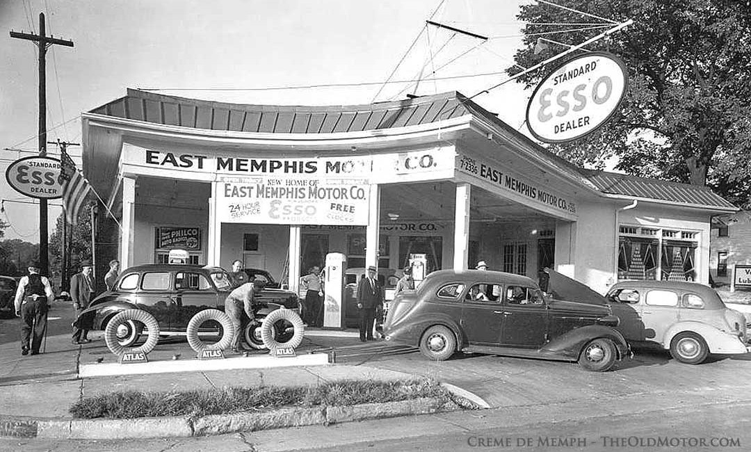 Old Service Garages : Old gasoline station and garage photographs the motor