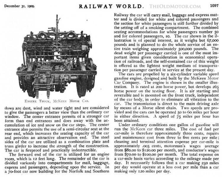 The Distinctive and Aerodynamic McKeen Rail Motor Car | The Old Motor
