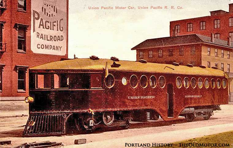 Union Pacific Motor Car 7 made by the McKeen Motor Car Company