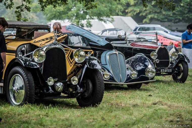 A Voison, a Delahaye and a Bugatti