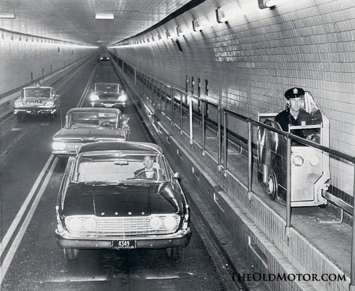 1960s Port of New York Authority Tunnel Police Catwalk Car
