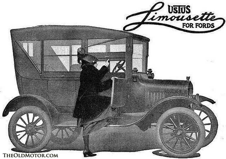 Automobile side curtains Model T Ford