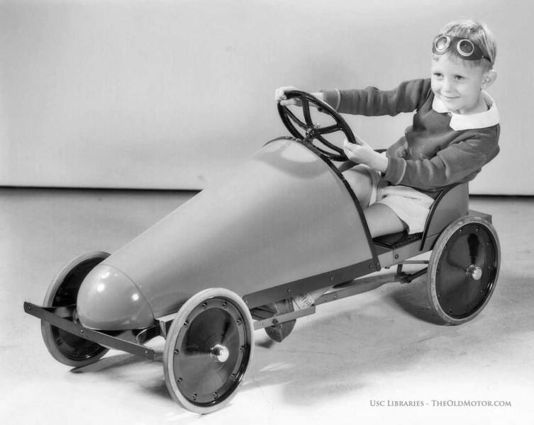 Antigue vintage childs pedal car