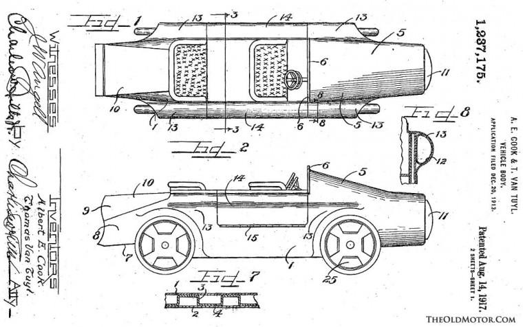 early amphibious automobile