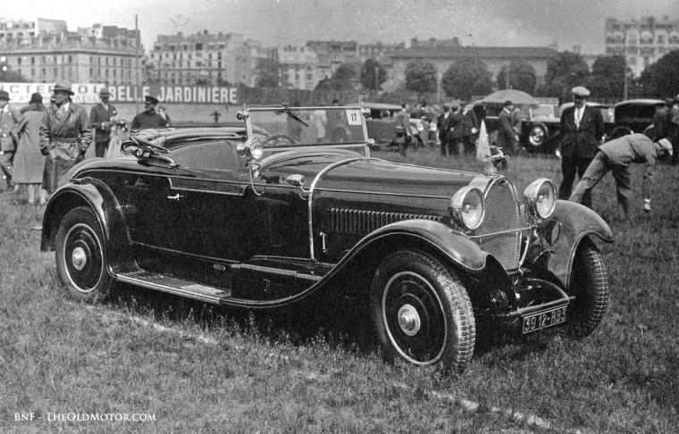 1929 Parc des Princes Concours d'Elegance Type 43 Bugatti