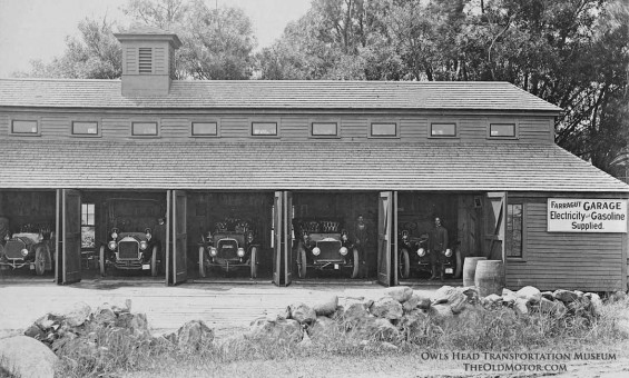 The Farragut Hotel Garage Rye New Hampshire Pope Toledo, Locomobile, peerless and Columbia Cars