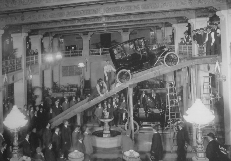 Used Cars Spokane >> Setup for the 1915 Auto Show at the Davenport Hotel | The Old Motor