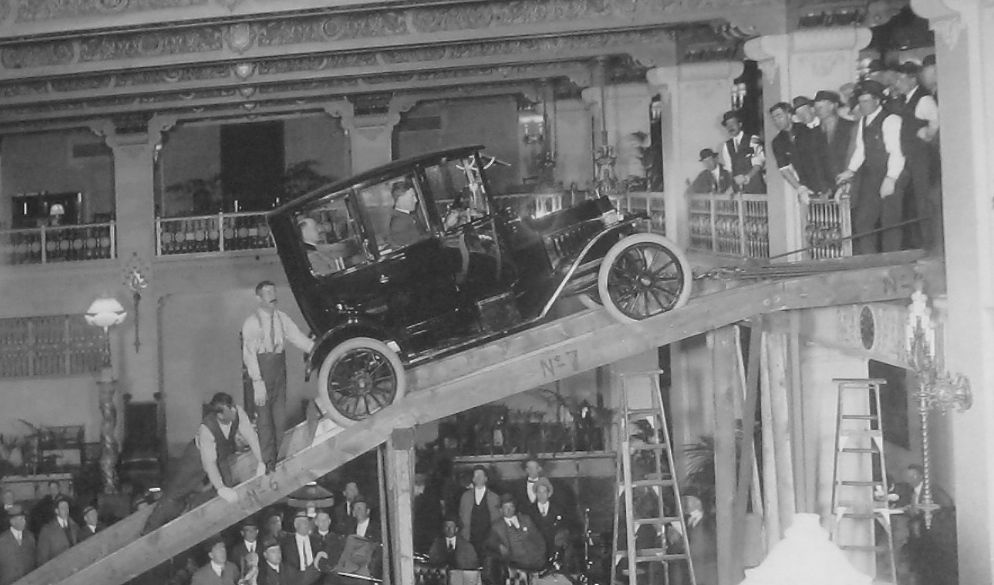 Setup for the 1915 Auto Show at the Davenport Hotel | The Old Motor