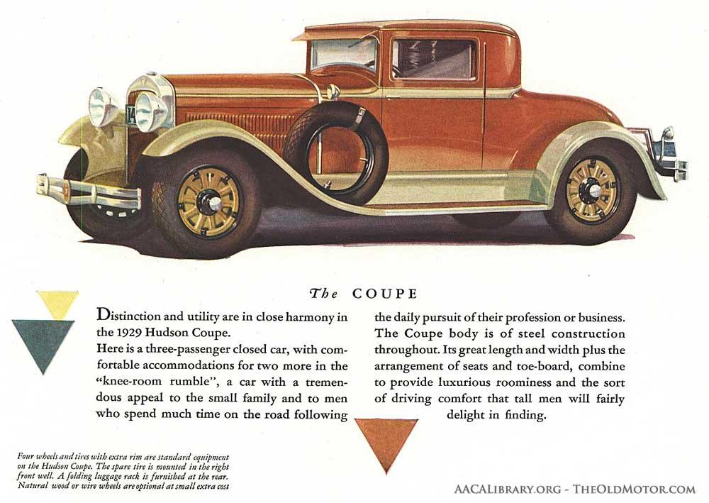 1929 Hudson Super-Six Coupe