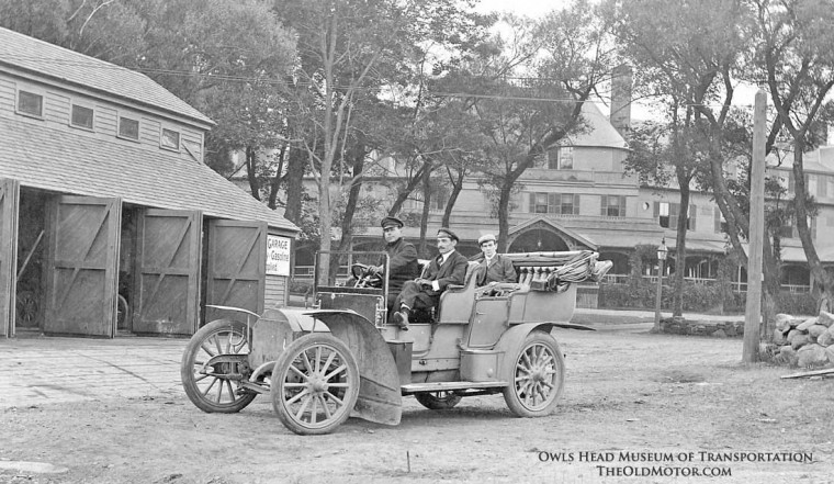 1906 Fiat at the Farragut Hotel Rye New Hampshire