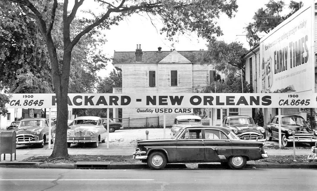 Packard new orleans fading old line luxury in the big for Garage orleans auto